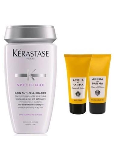 Kerastase Kerastase Anti- Pelliculaire Yağlı Saçlar için Kepeğe Karşı Şampuan 250 ml + Acqua Di Parma (Vücut Kremi + Duş Jeli ) 75ml Renksiz